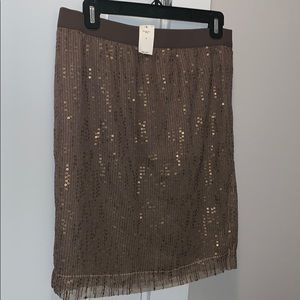 NWT Gap sequined layer skirt